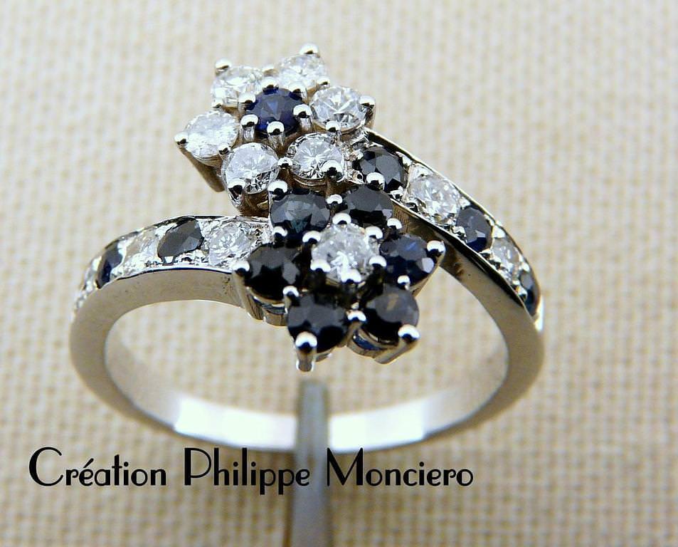 Duo de saphirs et diamants