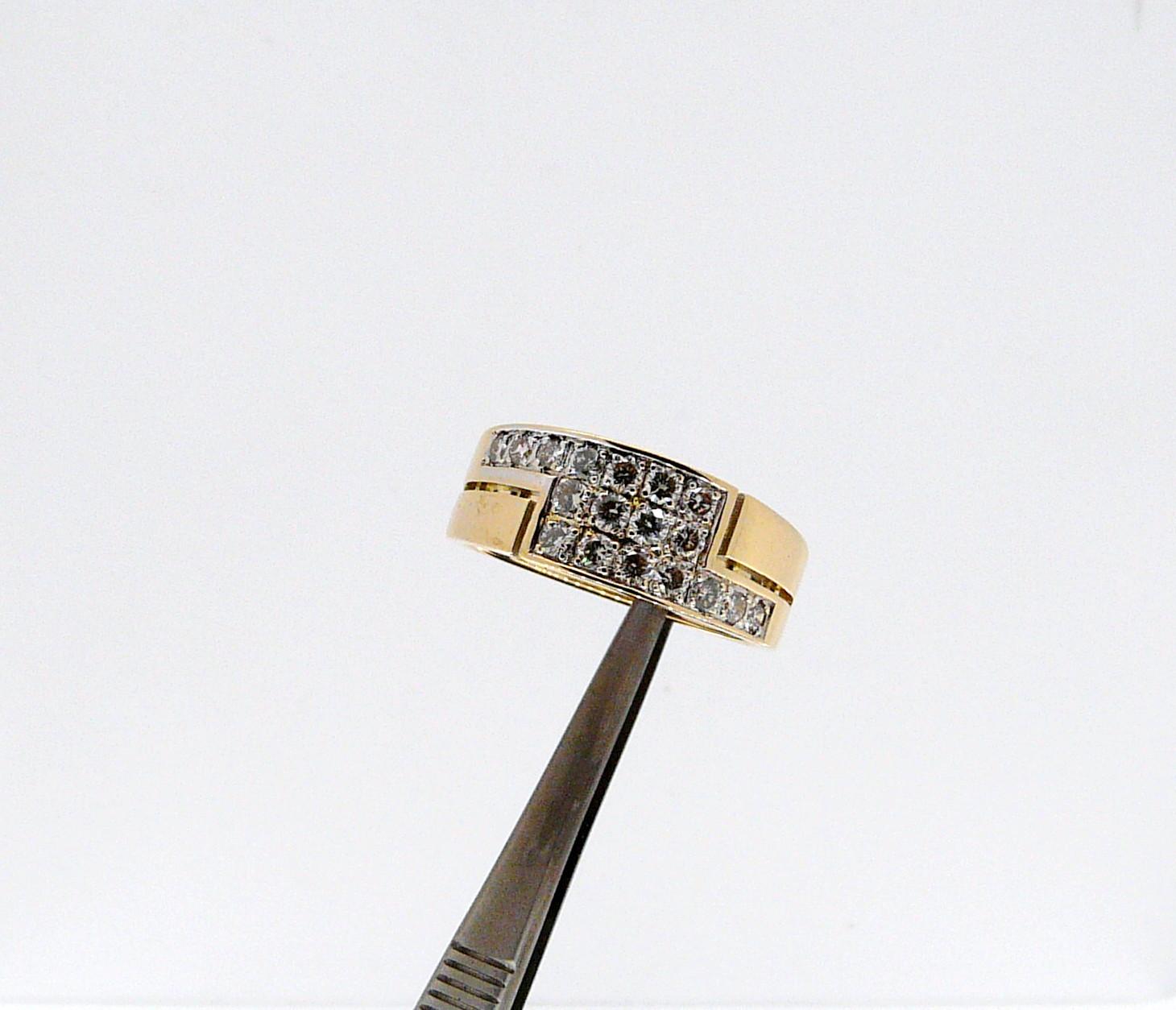 Bague Crétoise or jaune et diamants. Monciero - Nîmes