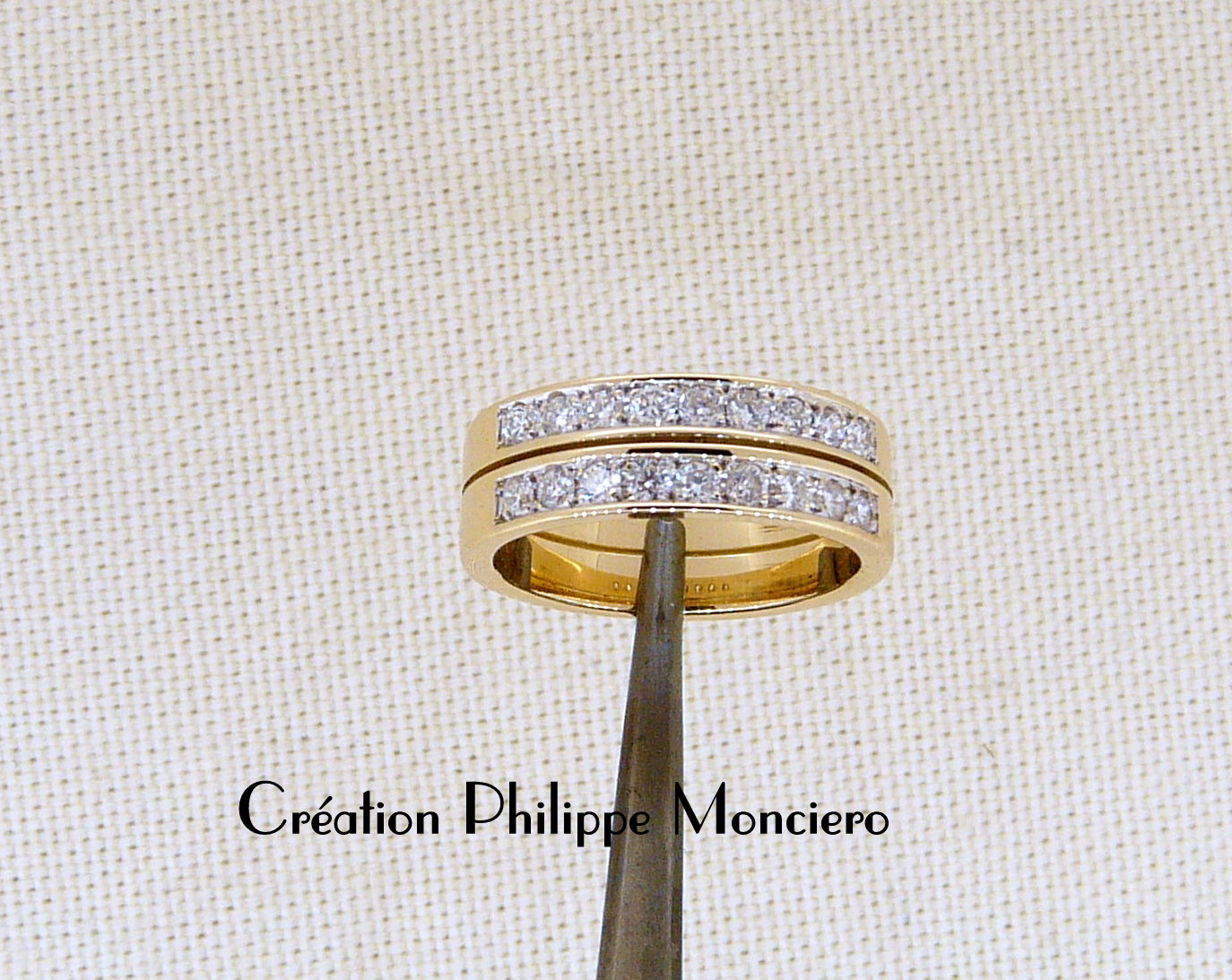Alliance diamants double rangs. Monciero - Nîmes