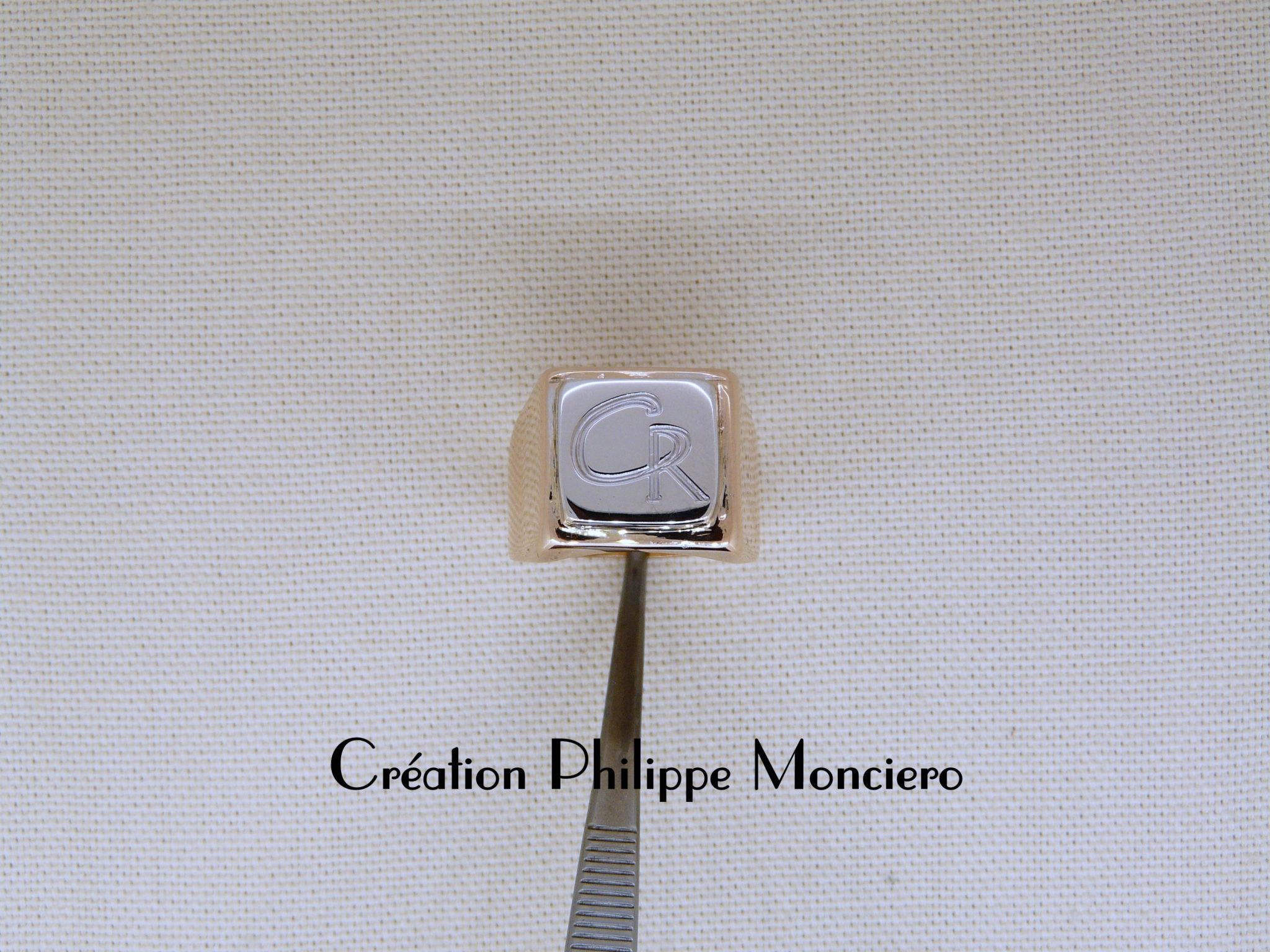 Chevalière Bicolore. Monciero - Nîmes